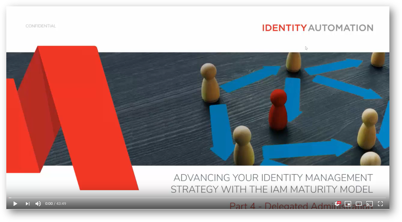image - Advancing Your Identity Management Strategy with the IAM Maturity Model, Part 4 - Delegated Admin
